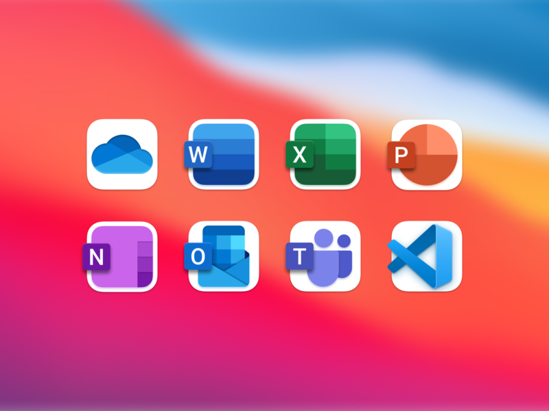 macOS Big Sur Microsoft Icons macos microsoft icons big sur