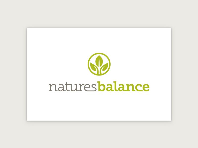 Natures Balance Logo logo leaf leaves balance nature