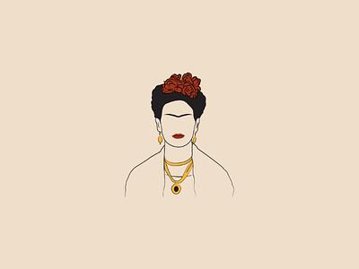 Frida kahlo design drawing art vector illustration digitalart illustrator vector artist lineart abstract fridakahlo illustration vectorart
