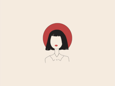 French girl lebanon artist art abstract graphic design digital art drawing minimalist minimal line art vector art vector illustration illustrator french girl