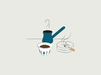 Mom's coffee line art doodle art doodles digital drawing drawing illustrator illustration vector illustration graphic design vector vector art arabic lebanese lebanon cigarette cigarettes lebanese coffee coffee