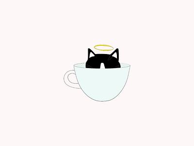 R.I.P. 🖤 catillustration kitten cat art lebanon graphicdesign vectorart vector illustrator drawing artist design illustration minimal lineart abstract doodleart doodle digitalart
