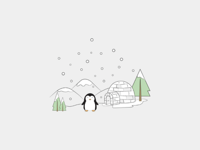 Winter scene winter vector snow illustration penguin winter artist art lebanon graphicdesign vectorart vector illustrator drawing illustration minimal lineart abstract doodleart doodle digitalart