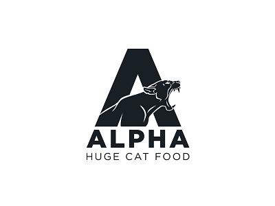 AlPHA #logo a food cats development branding logo