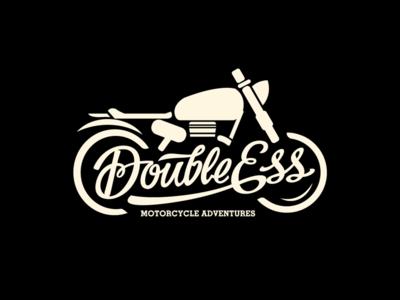 Double ESS lettering script roadtrip bike logo branding motorcycle