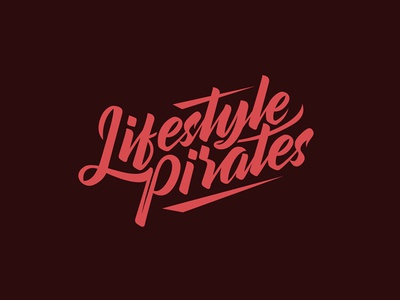 Lifestyle Pirates script lettering streetwear culture lifestyle fashion blog logo handmade