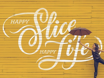 Happy Life paint wall melbourne lettering handmade life happy work