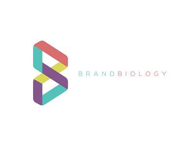 Brand Biology symbol gotham fresh clean color b mark logo