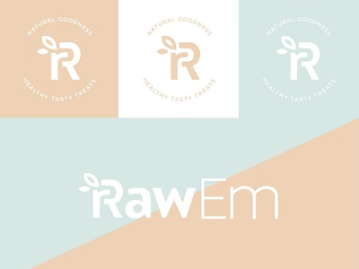 RawEm Australia Logo leaf natural sans raw rr r dessert sweet healthy brand logo