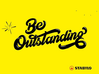 Be Outstanding belike creative bold australia lettering advetising stabilo markers