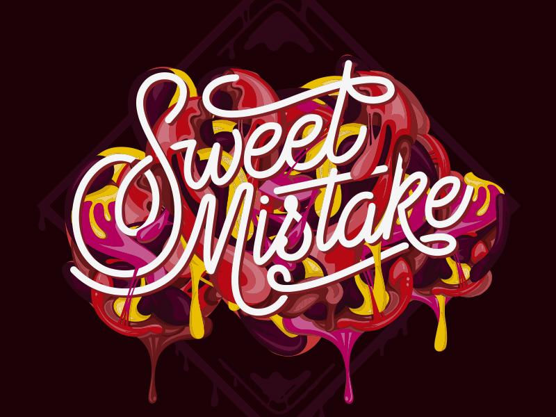 Sweet Mistake dessert food sauce melbourne australia type sm digital lettering illustration