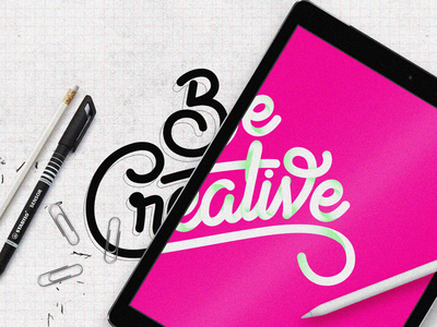 Be Creative hand-drawn typography type advertising sydney color markers pens ios digital ipad lettering