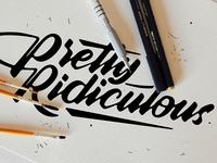 Some budgets are... practice handmade canvas script marker brush lettering calligraphy