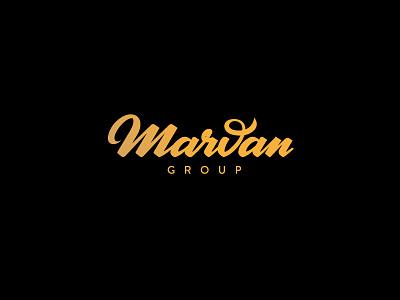 Marvan Group yellow black brush script lettering logo australia sydney holyday restaurant bar hotel