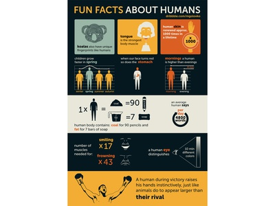 Infographic: Fun Facts about Humans