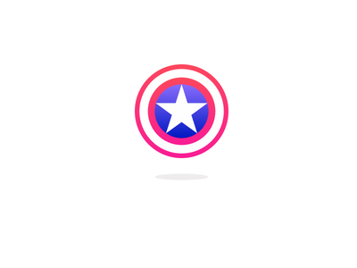 Captain America's Shield dailyui dailycssimages codepen blue red star shield css3 css illustration flat illustration flat design flatdesign comicsart comics marvel comics marvelcomics marvel captain america captainamerica