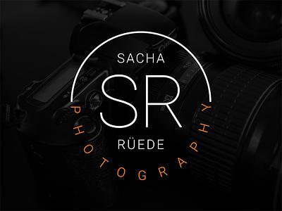 Sacha Rüede Photography Logo minimalistic clean simple typography identity logo