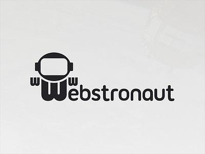 Webstronaut Logo logo brand identity astronaut web