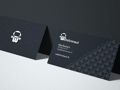 Webstronaut Business Card business card astronaut dark black design print branding