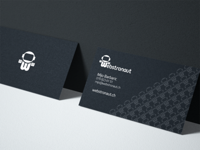 Webstronaut Business Card business card astronaut dark black design print branding