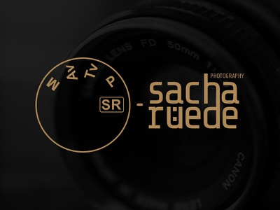 "Unused Logo for ""Sacha Rüede Photography"" camera photographer photography mark identity logo"