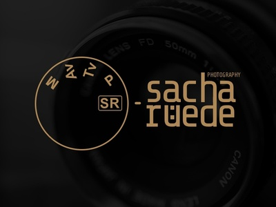 "Unused Logo for ""Sacha Rüede Photography"" camera photographer photography mark identity logo"