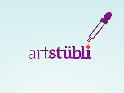 Arstübli Logo Concept living room bern switzerland showroom art urban logo