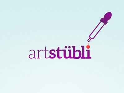 Arstübli Logo Concept living room bern switzerland showroom art urban logo