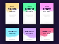 Watercolor business banner collection