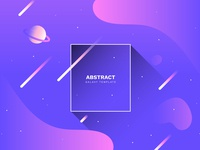 Abstract galaxy background with fluid shapes