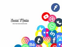 Social media background