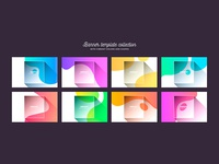 Background collection with vibrant colors and shapes