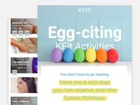 Newsletter/Email Design Special Easter Edition for KFit