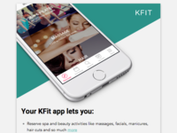 Upgrade to the new KFit app Newsletter/Email Design