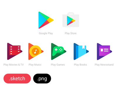 Freebie: Google Play Family Icons app vector .sketch download freebies resources free sketch icons google google play
