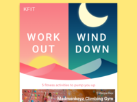 Work out, wind down Newsletter/Email Design