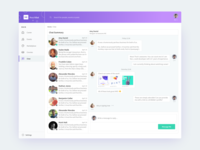 SaaS Product Chat UI Design