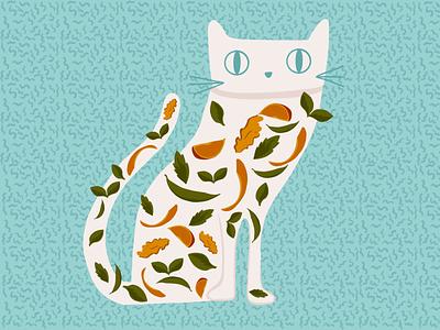 Soft kitty 🐱 art marketing graphic web design landing design ux ui branding illustration