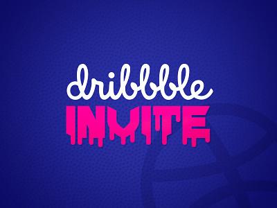 Dribbble Invite simpe minimal clean art shot invite design invite dribbble branding flat typography design