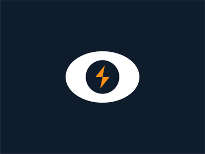 """Thunder & Gunner"" Logo Eye Bolt Design Element eye logo eye design illustrator photoshop designer logo graphic dribbble simple thunder gunner light bolt logotype orange blue ui ux company"