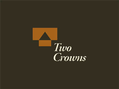 Two Crowns Logo Design Concept concept rectangle triangle 2 t beautiful classic vintage crowns two illustration simple dribbble typography graphic designer logo photoshop illustrator design