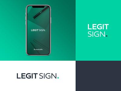 Legit Sign Branding Elements store documents digital product business personal illustration illustrator logotype typography graphic logo design ux ui simple elements branding sign legit
