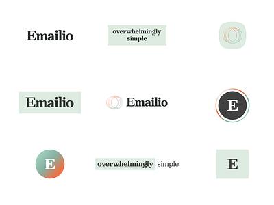Emailio Branding & Logo Design Concept email emailio concept design productdesign product app app design wellness focus goals uiux ux ui life lifestyle calm green logo branding