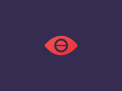 Eye + Screw Icon Design shapes symbol simple logotype logomark icon illustration design screw eye optic optics typography illustrator letters letter pink logo photoshop purple