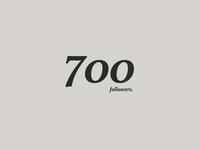 700 Dribbble Followers