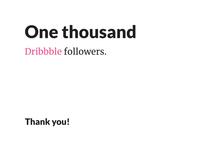 1000 Dribbble Followers