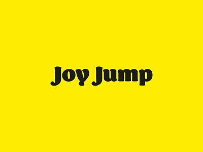Joy Jump Typography mark photoshop letter logodesign graphicdesign vector branding graphic designer simple logotype logomark dribbble sport branding typography jump joy sport illustrator design