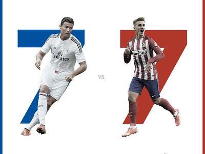Madrid Derby Sport Design social illustrator graphicdesign logo shapes designer graphic sport branding atletico madrid real sport branding vector typography ui design dribbble illustration photoshop