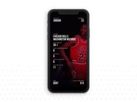Michael Jordan Sport UI Design