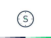 """""""S"""" + Compass Logo Design"""